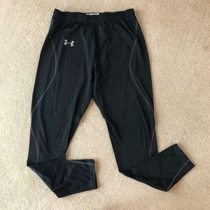 Under Armour Black Thermal Leggings Running Tights
